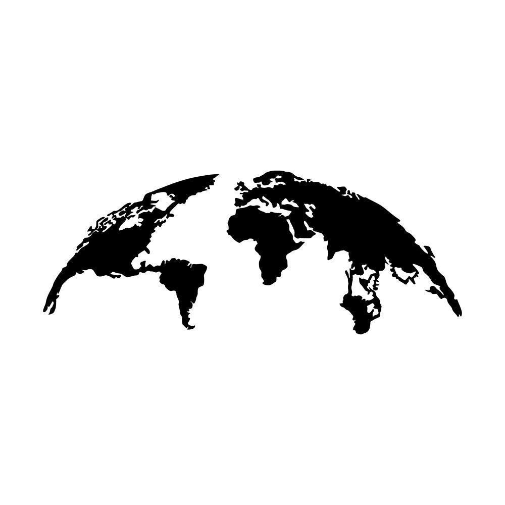 Dekoracja ścienna Algieba 120x47 cm czarna
