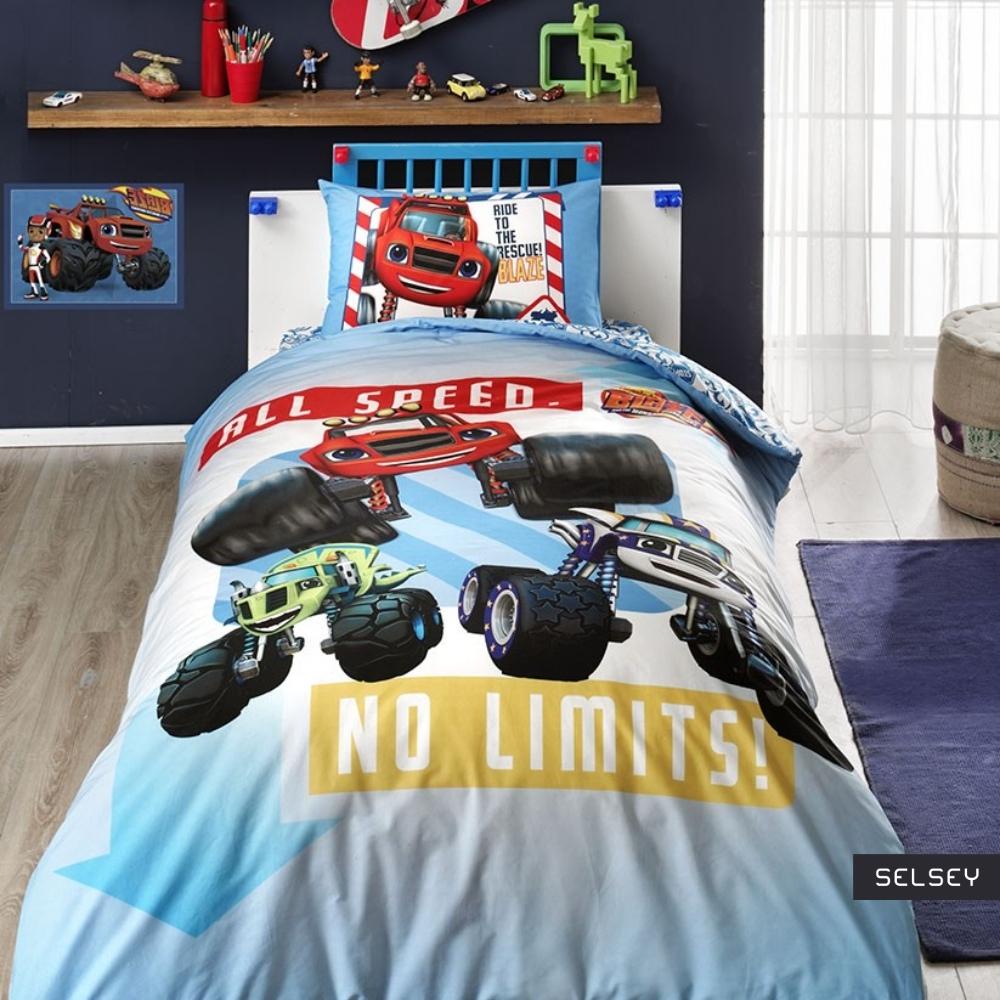 Dziecięca pościel Blaze No limits 160x220 cm z poszewką na poduszkę 50x70 cm i z prześcieradłem