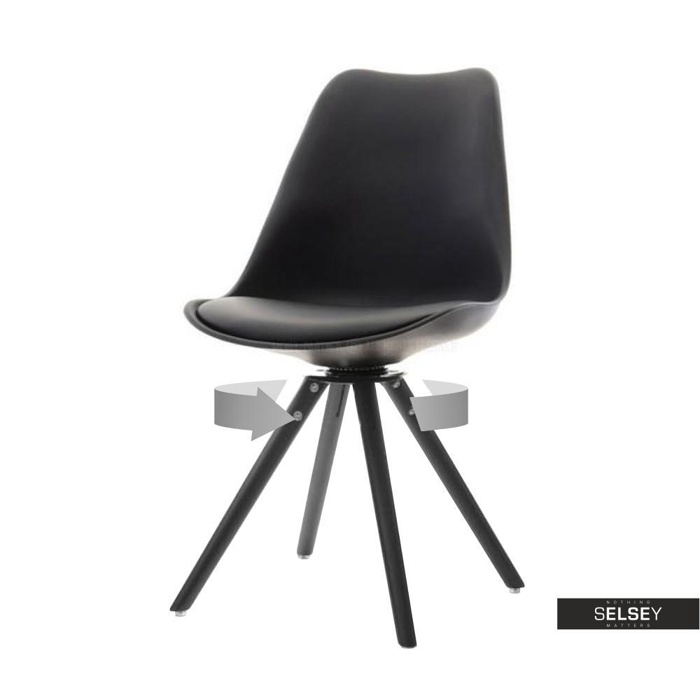 Krzesło Luis rot czarne do kuchni obrotowe
