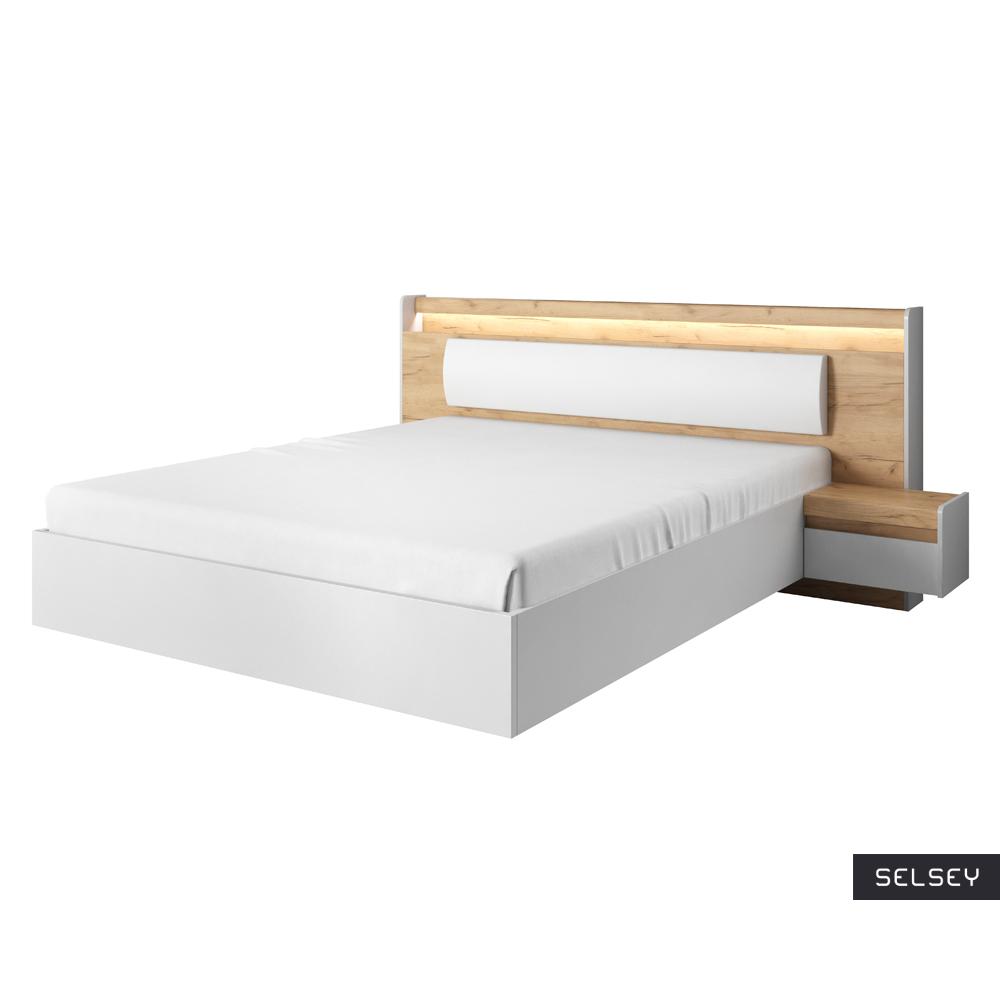Łóżko Niveus z szafkami nocnymi