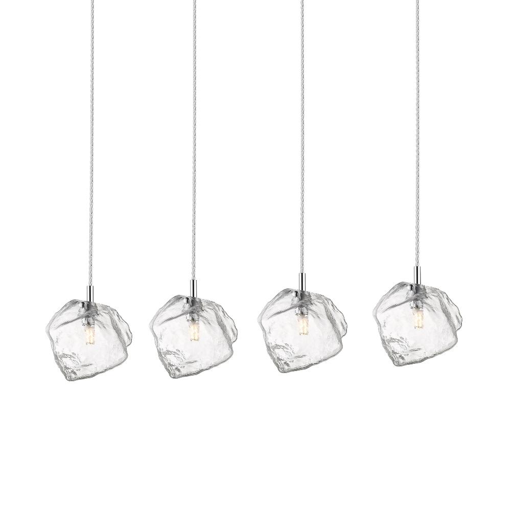 Lampa wisząca Arsenio x4 srebrna