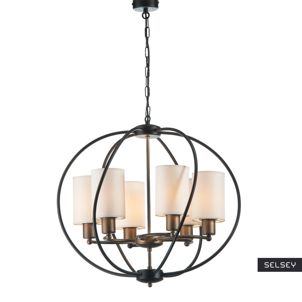 Lampa wisząca Korpusku x6 z klosikami