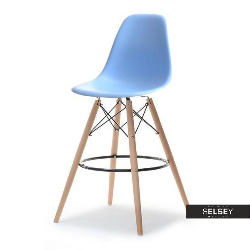 Hoker EPS wood 1 niebieski na drewnianej podstawie