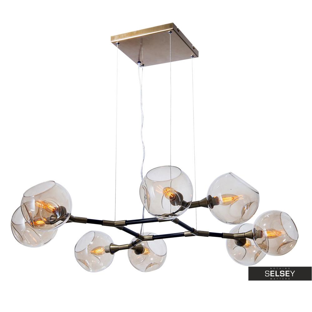 Lampa wisząca Kiwano czarno złota x8