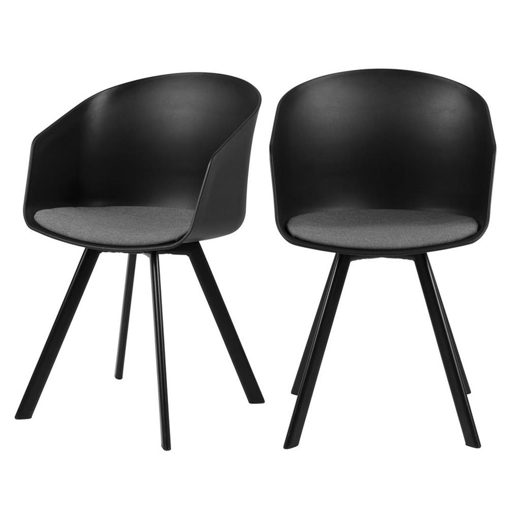 Zestaw dwóch krzeseł Tamarillo czarne