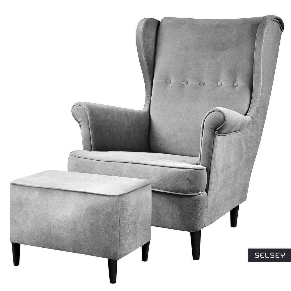 Fotel z podnóżkiem Malmo Monolith 84