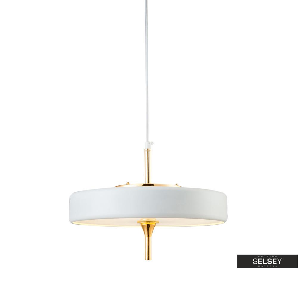 Lampa wisząca Chicago biała ze złotymi elementami