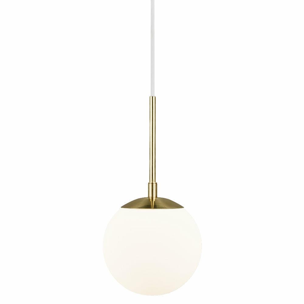 Lampa wisząca Grant średnica 15 cm biało-złota