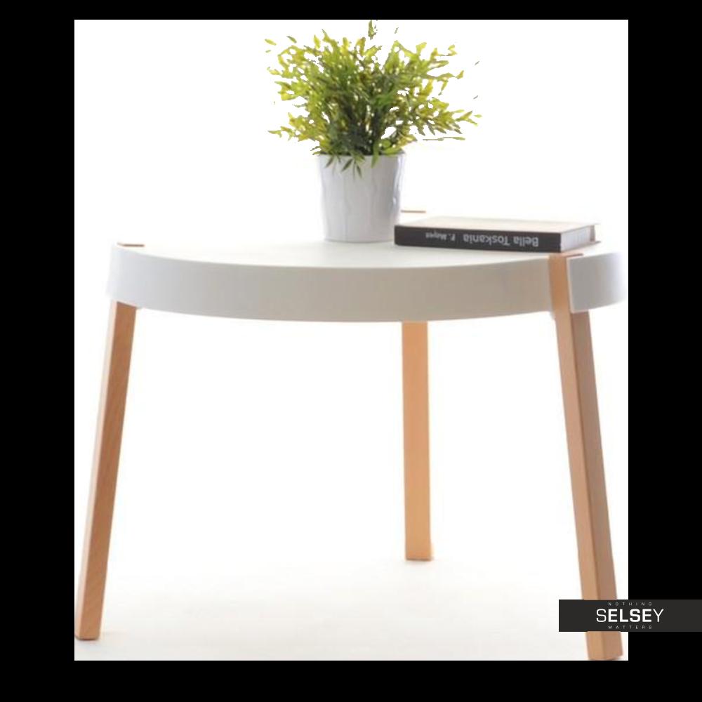 Stolik kawowy Twist biały średnica 61 cm z tworzywa