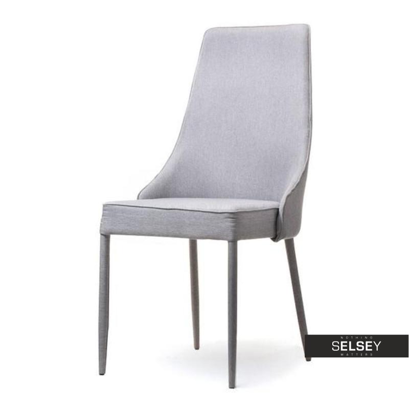 Krzesło Bolzano Szare Tapicerowane Do Nowoczesnej Jadalni