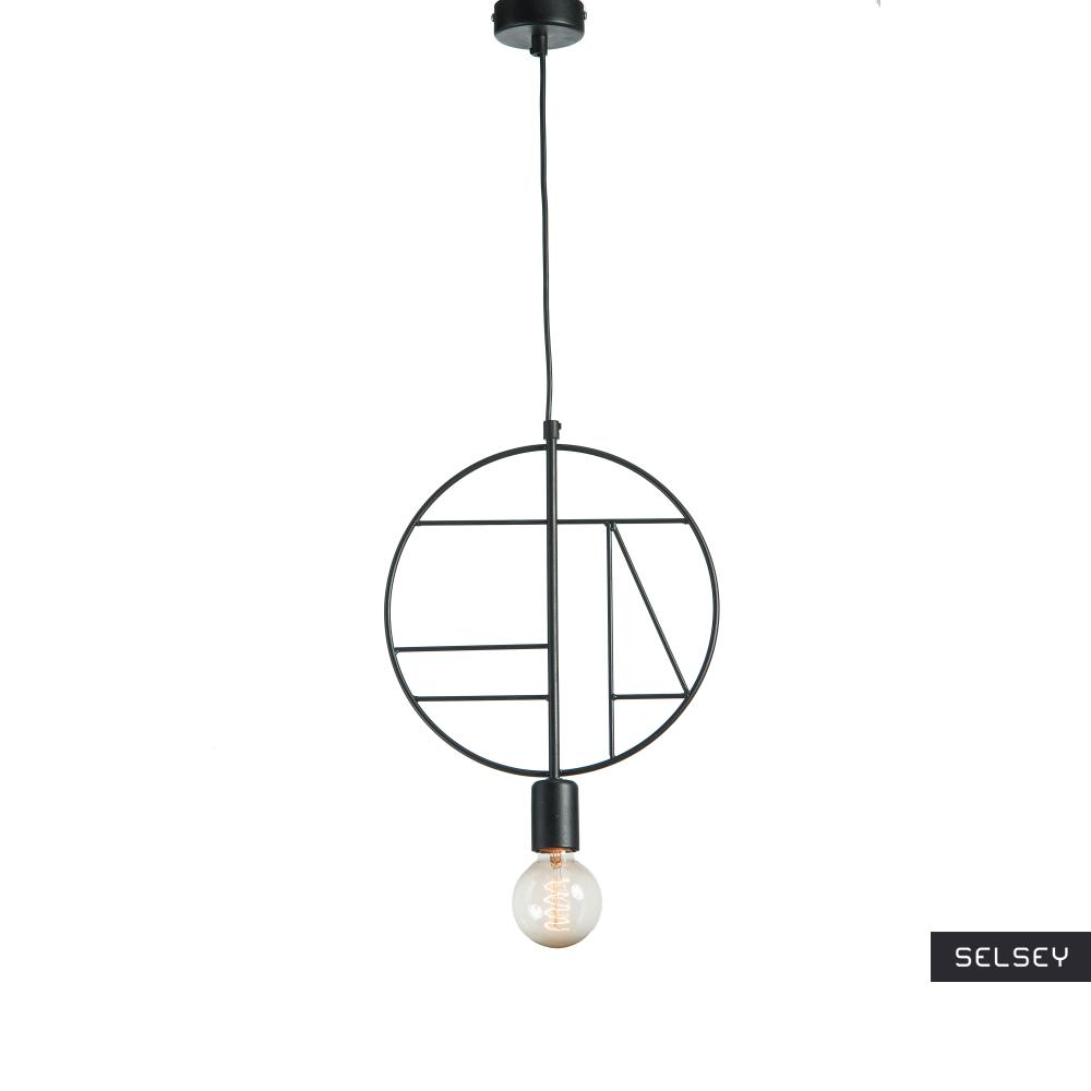 Lampa wisząca Geometra Circle czarna
