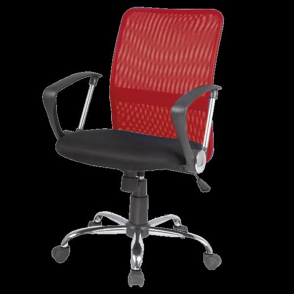 Fotel biurowy Marlin czerwono - czarny