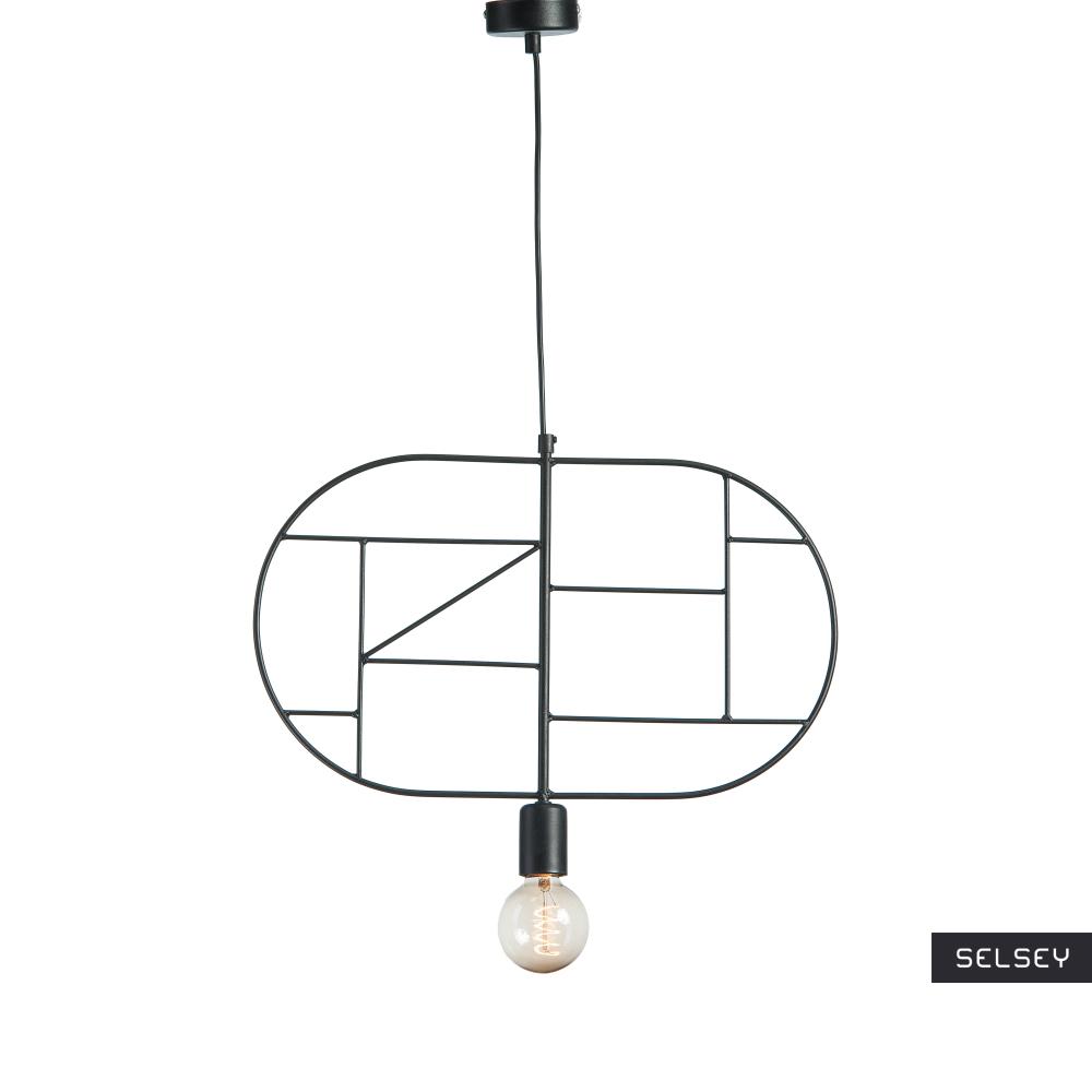 Lampa wisząca Geometra Oval czarna