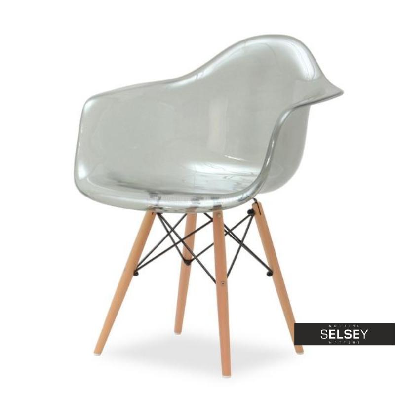 Krzesło MPA wood transparentne na drewnianych nóżkach