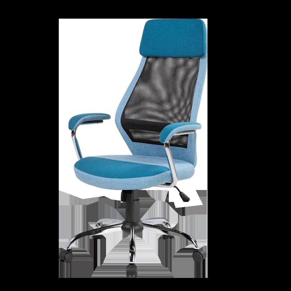 Fotel biurowy Asmara niebieski