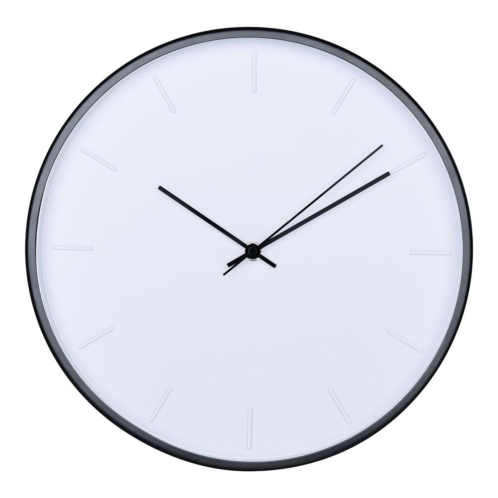 Zegar ścienny Berile biało-czarny