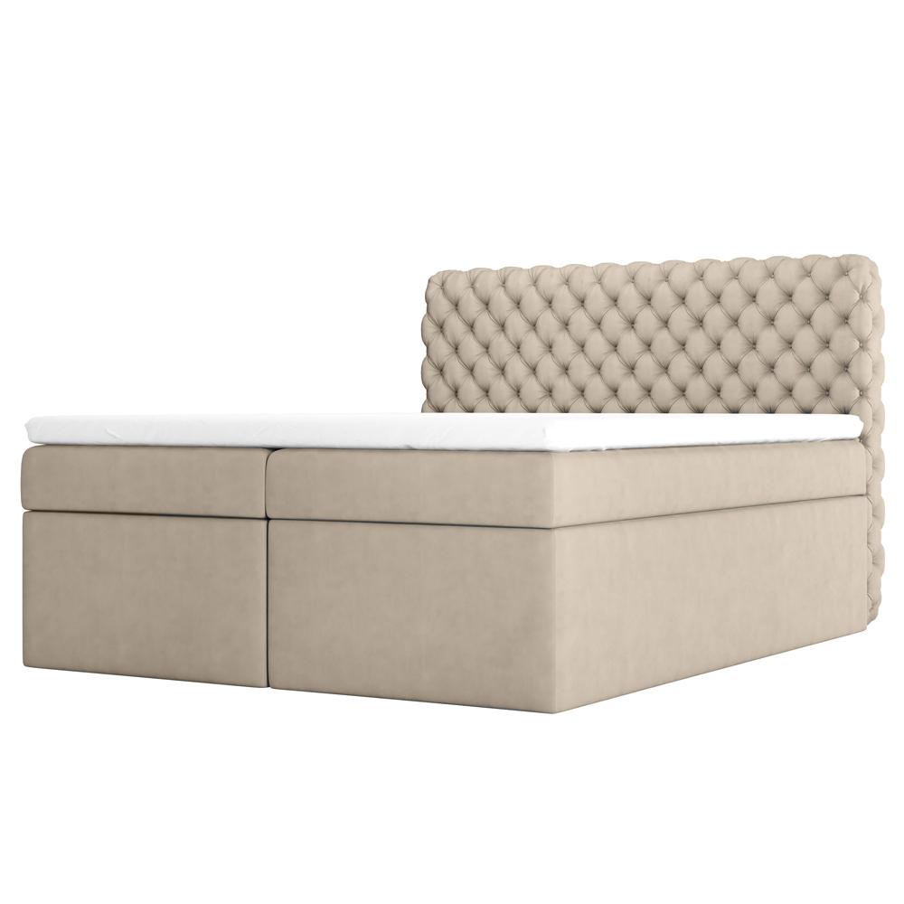 Łóżko kontynentalne Costmary z pojemnikiem na pościel w tkaninie wodoodpornej