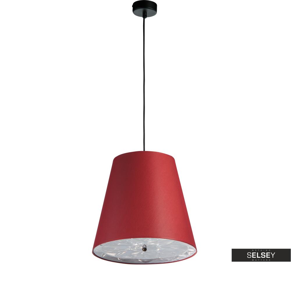 Lampa wisząca Rosetti średnica 33 cm czerwona