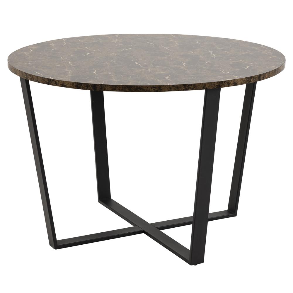 Stół Adhafera brązowy średnica 110 cm