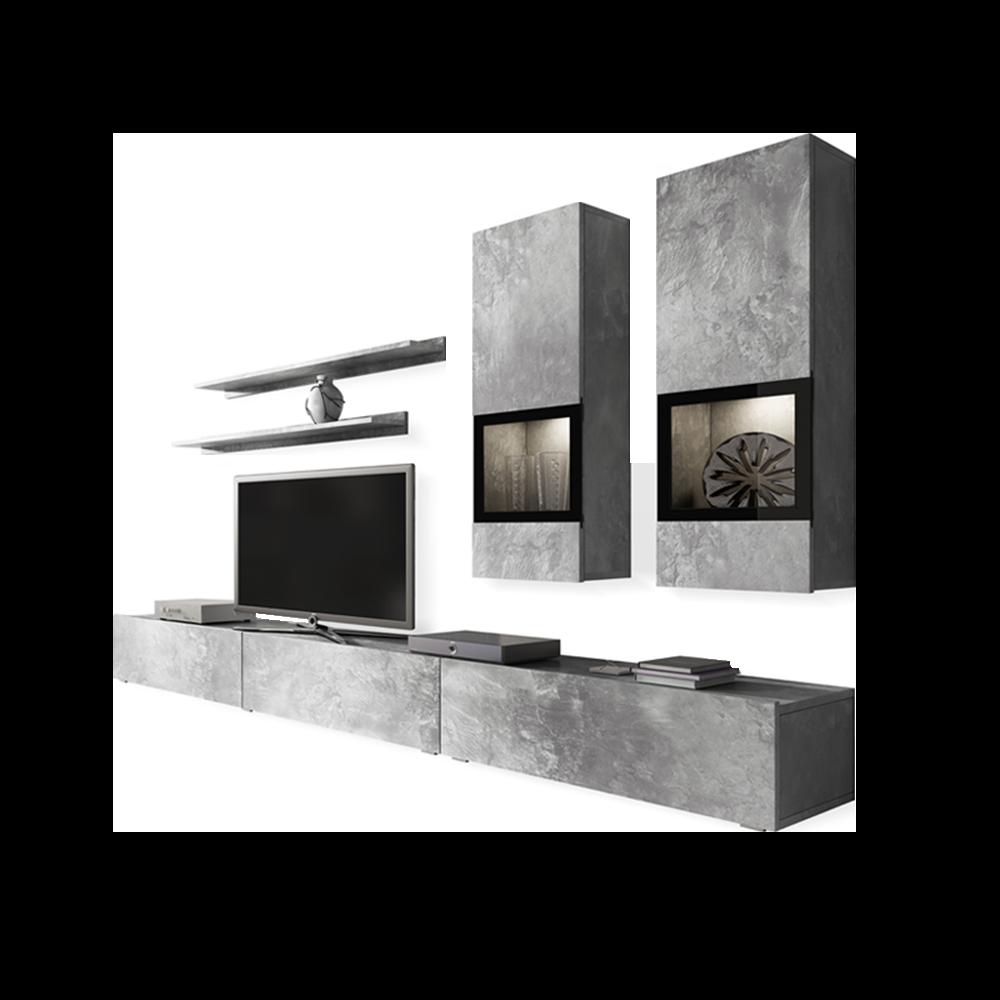 Meblościanka Baros beton