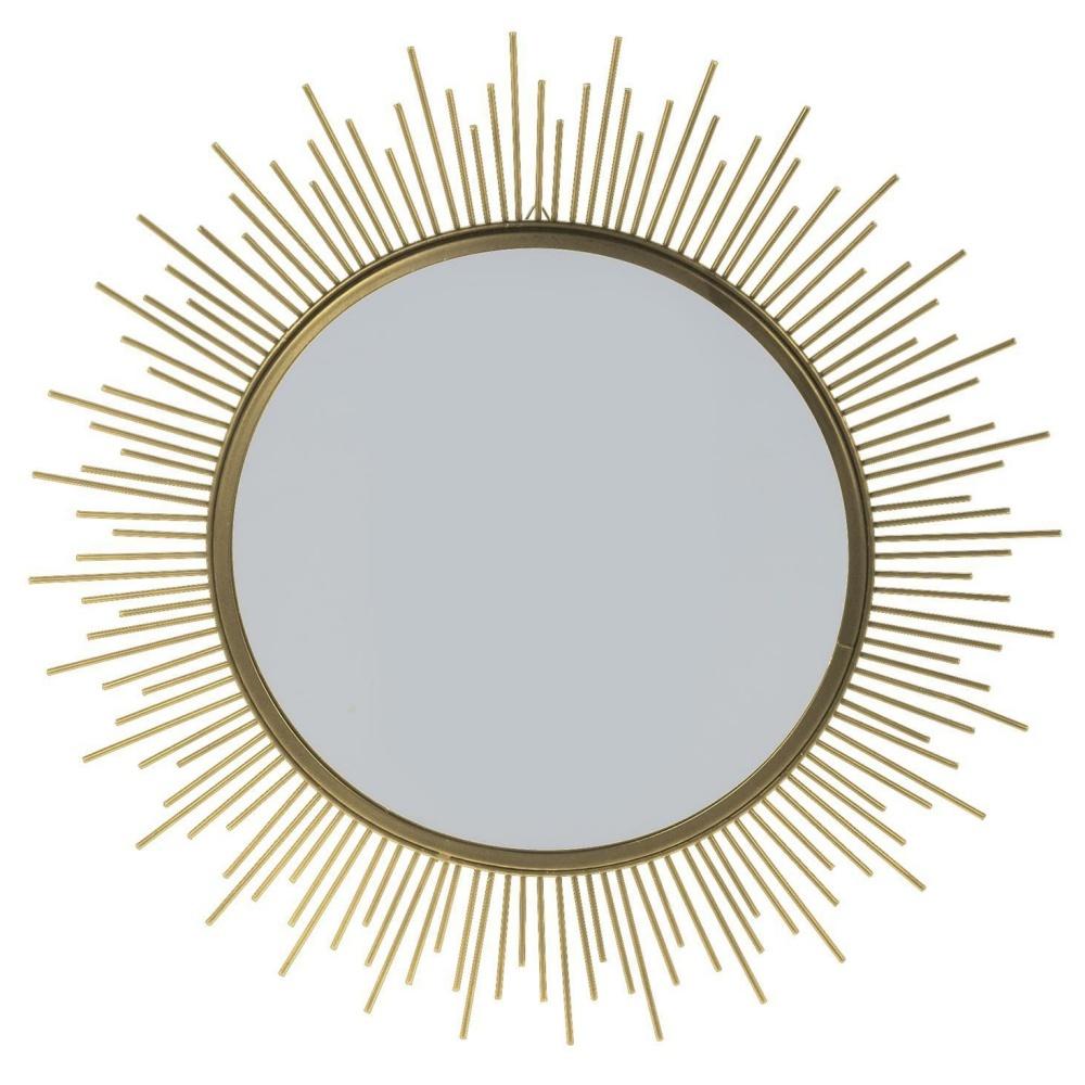 Lustro Shine złote o średnicy 40 cm
