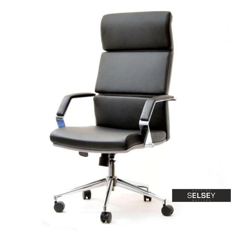 Fotel biurowy Bond czarny - popiel z regulacją wysokości