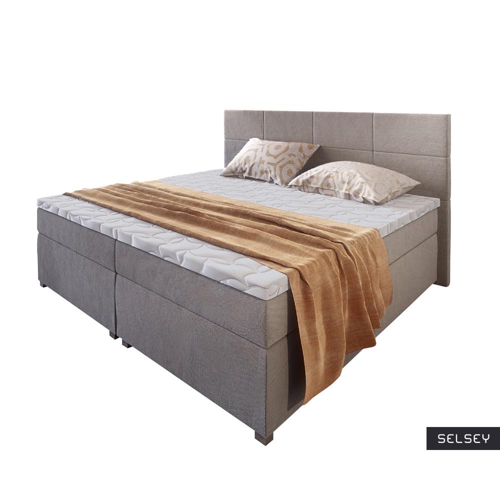 Łóżko kontynentalne Kargala z pojemnikiem