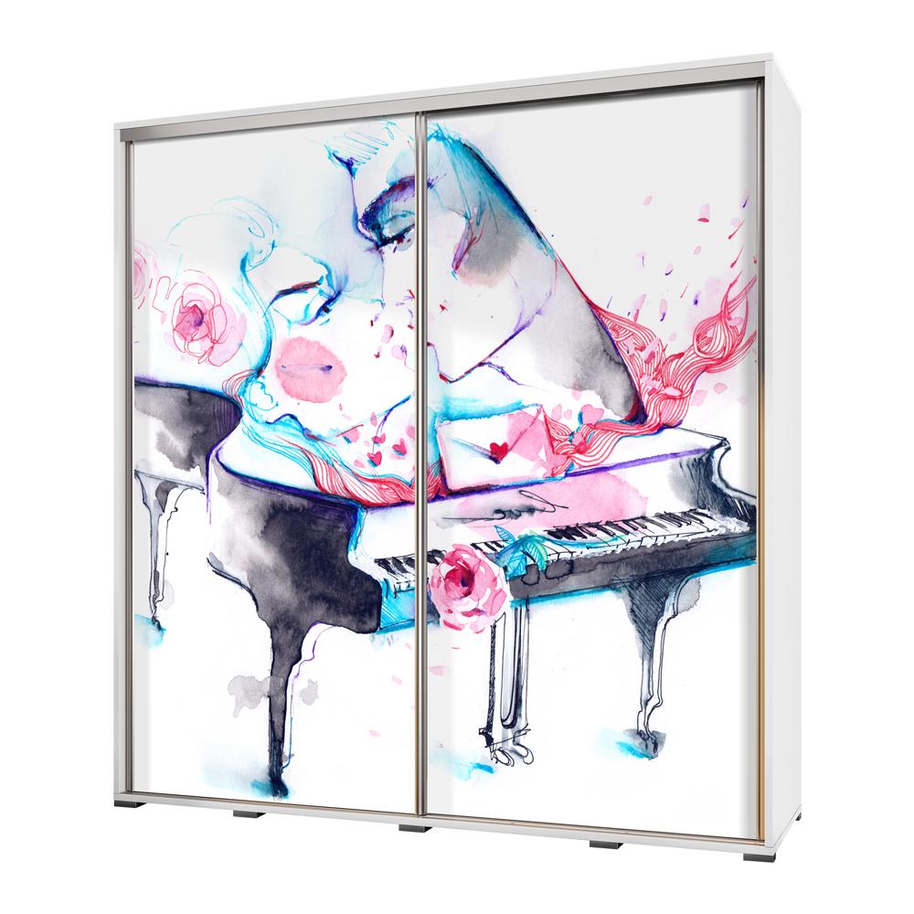 Szafa Wenecja 205 cm Akwarelowy fortepian