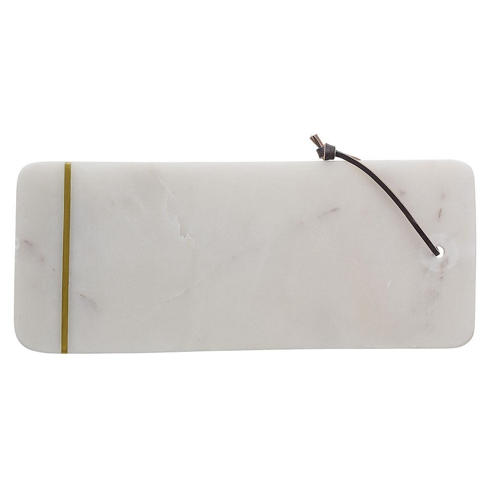 Deska do krojenia Eiliri biały marmur 37 cm