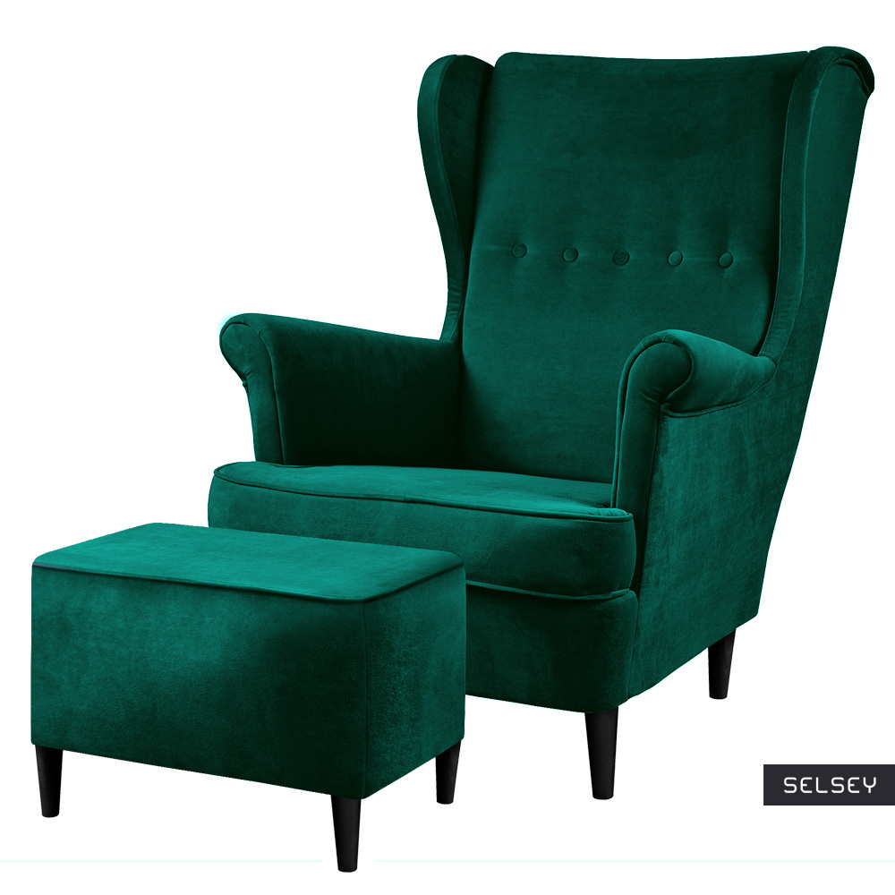 Fotel z podnóżkiem Malmo Monolith 37