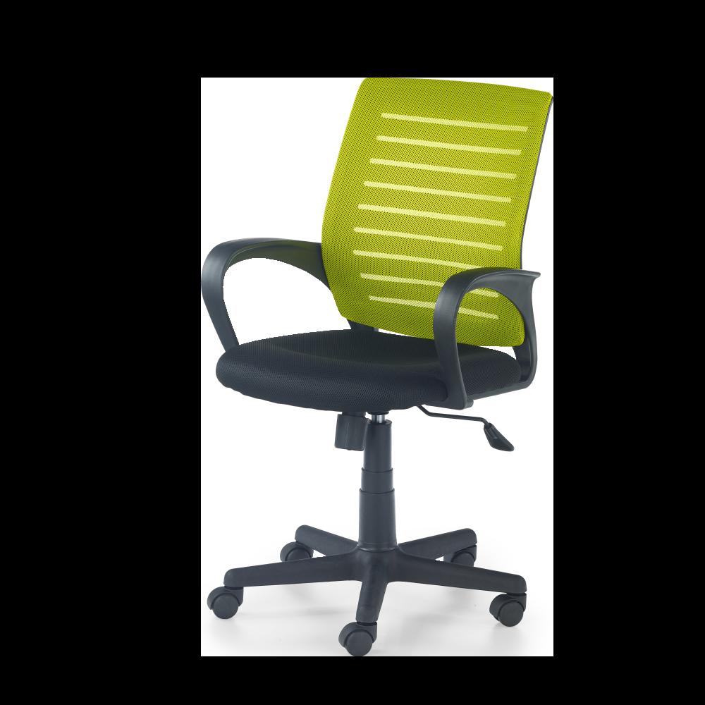 Fotel biurowy Teamaran z zielonym oparciem