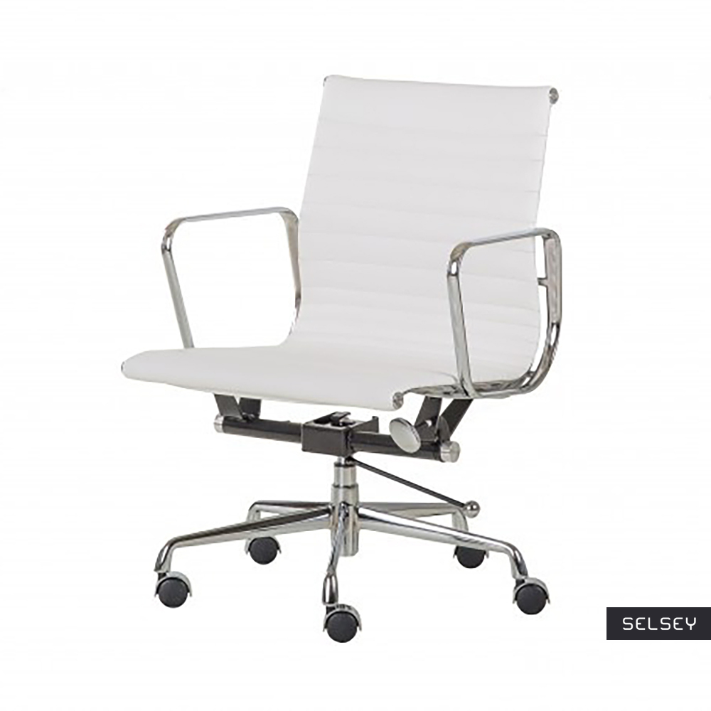 Fotel biurowy Selleck biały