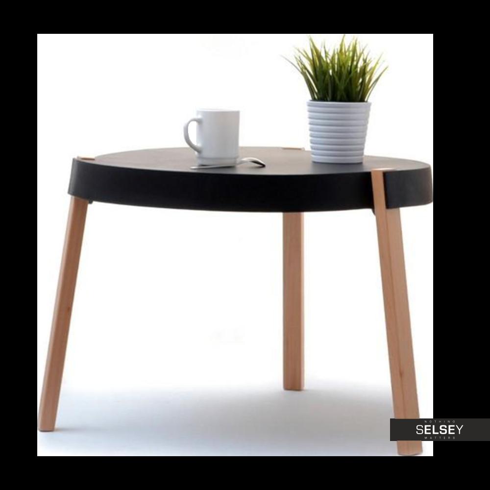 Stolik kawowy Twist czarny średnica 61 cm z tworzywa
