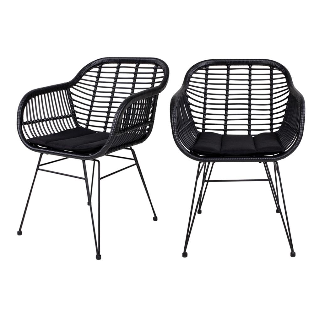 Zestaw dwóch krzeseł Hacive czarne