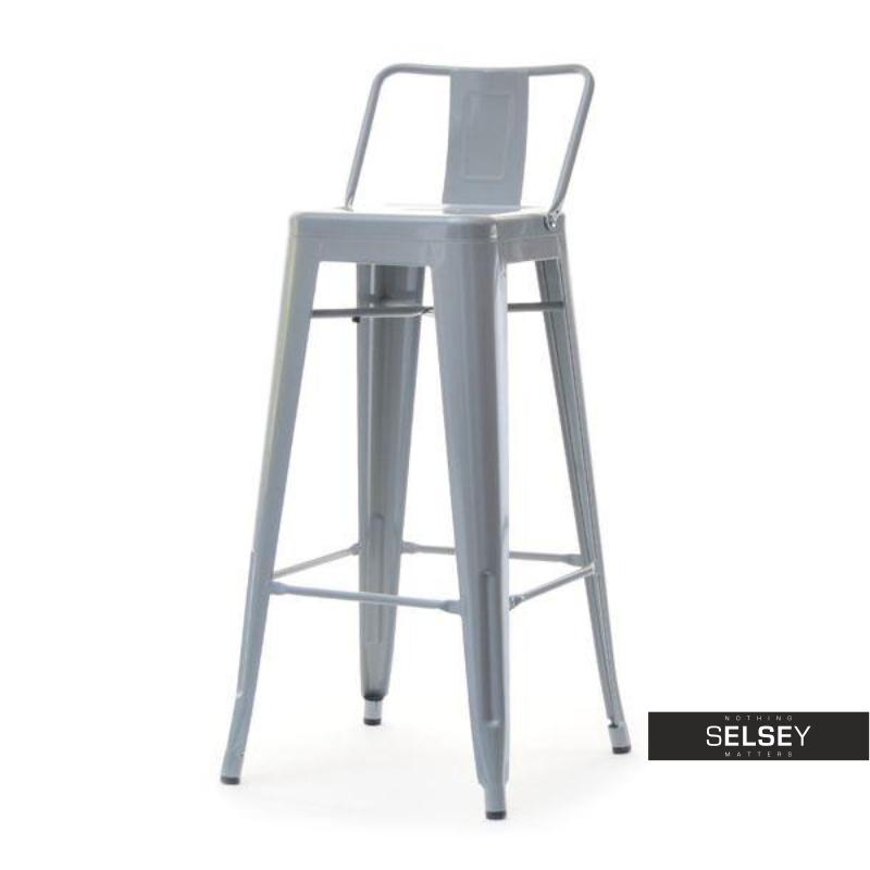 Hoker Alfredo stool 1 szary z metalu