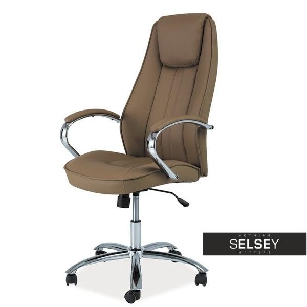 Fotel biurowy Risco brązowy
