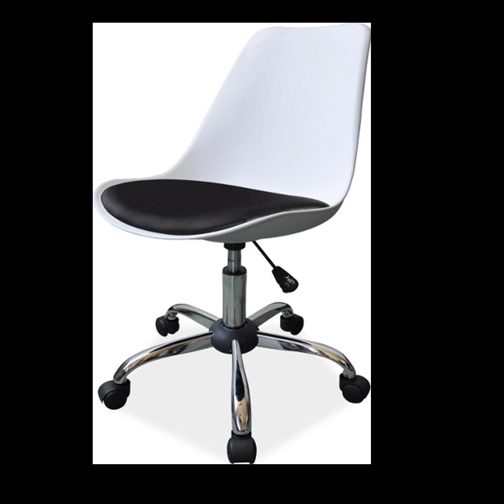 Fotel biurowy Lucilin bis biało - czarny