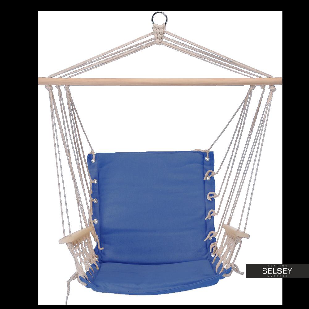 Hamak siedzisko Modern z oparciem i podłokietnikami niebieski