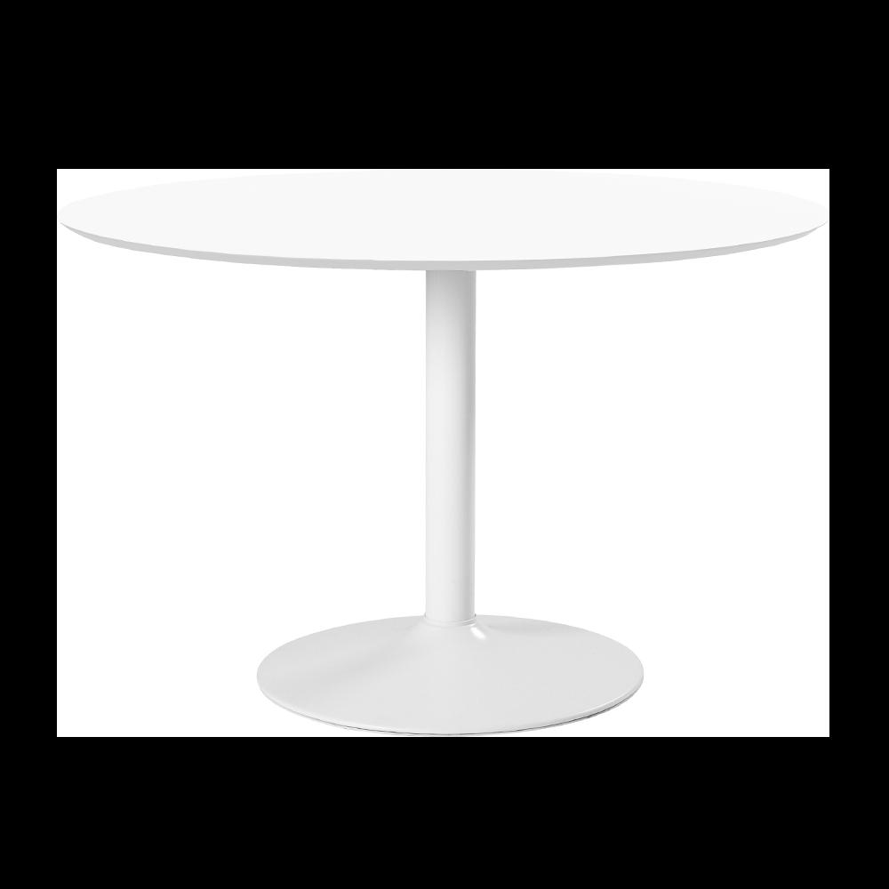 Stół do jadalni okrągły Balsamita średnica 110 cm biały