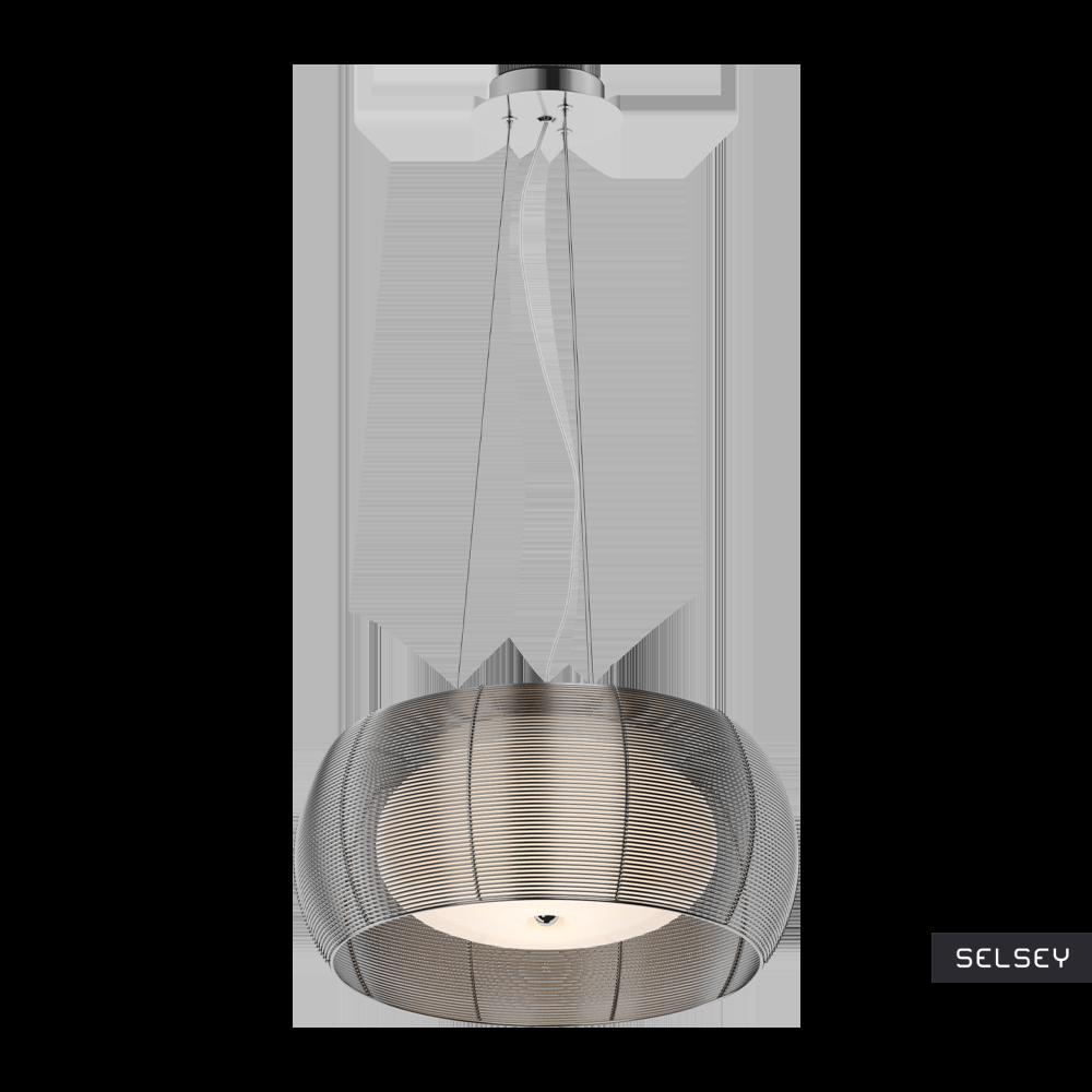 Lampa wisząca Markle średnica 40 cm srebrna