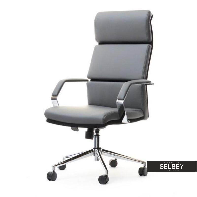 Fotel biurowy Bond szaro - czarny z regulacją wysokości