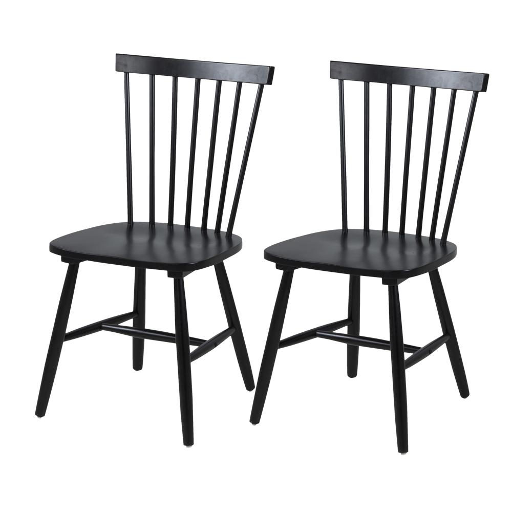 Zestaw dwóch krzeseł Radevo czarne
