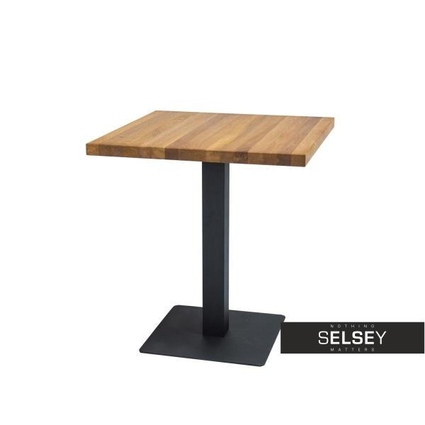 Stół Divock 60x60 cm z litego drewna dębowego