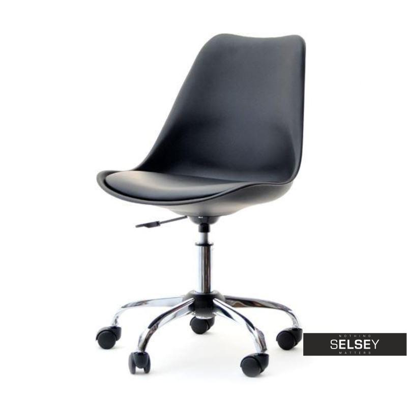 Fotel biurowy Luis move czarny obrotowy na kółkach