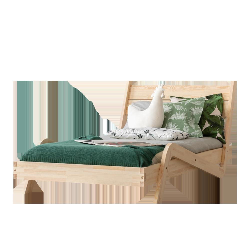 łóżko Banjo Młodzieżowe Z Drewna