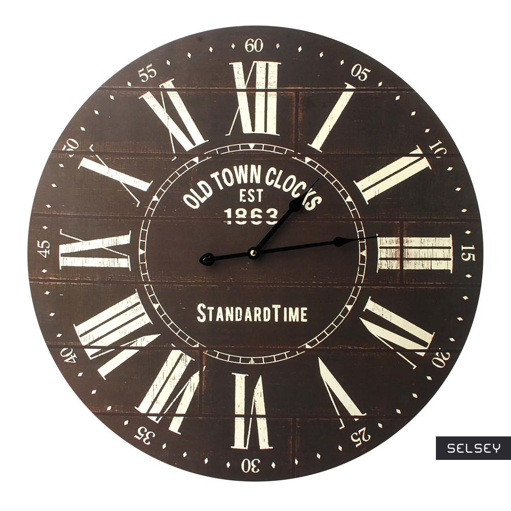 Zegar Livorno brązowy