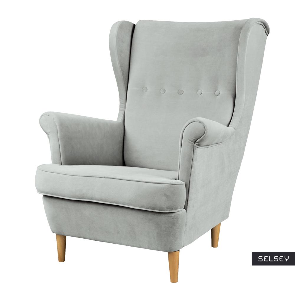 Fotel Malmo jasnoszary z tkaniny hydrofobowej