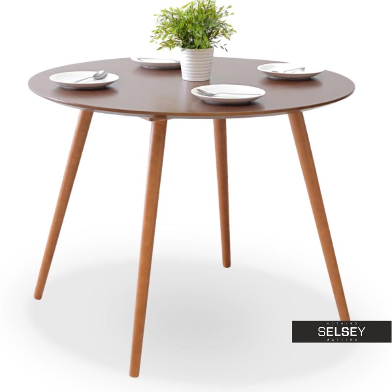 Stół Tilia orzech z okrągłym blatem