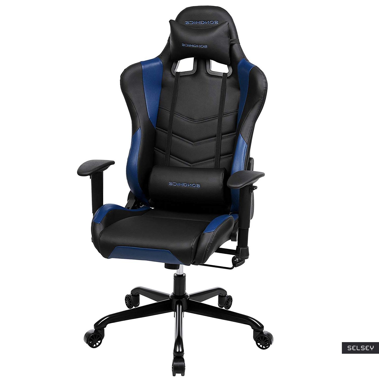 Fotel gamingowy Manjaran Dark Blue