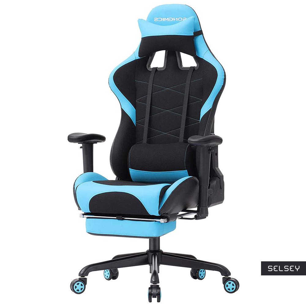 Fotel gamingowy Ribble niebiesko-czarny